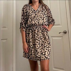 Express leopard print above the knee dress